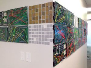 """Data Hall"" by Patricia Van Dalen at CCS offices, University of Miami, Florida"